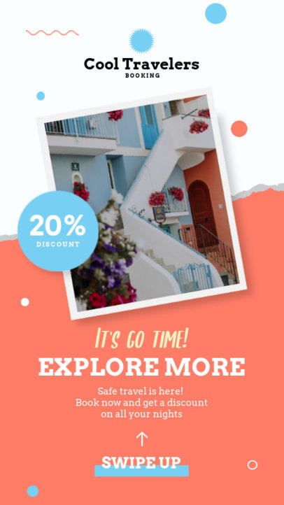 Instagram Story Generator for a Travel Discount Ad 4247a-el1