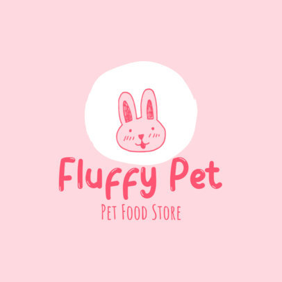 Logo Maker for a Pet Store With a Cute Bunny Graphic 4235a-el1