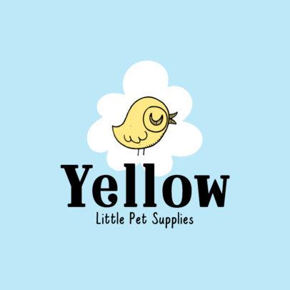 Pet Store Logo Generator Featuring a Bird Cartoon 4235d-el1