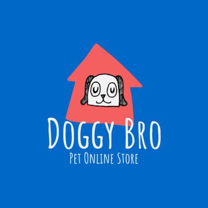 Pet Store Logo Maker With a Cartoonish Dog Graphic 4235b-el1