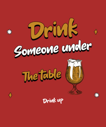 T-Shirt Design Maker with a Funny Quote for Beer Drinkers 4225a-el1