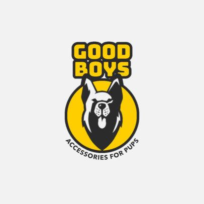 Pet Supplies Store Logo Creator with a Happy Dog Graphic 4241b-el1