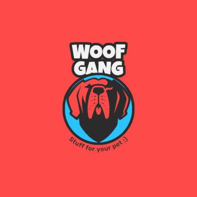 Pet Shop Logo Template Featuring a Dog Head Icon 4241d-el1