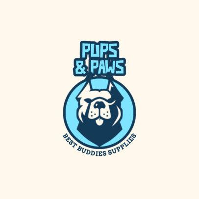 Pet Store Logo Maker Featuring a Pit Bull Graphic 4241e-el1