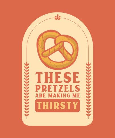 T-Shirt Design Maker Featuring a Pretzel Graphic with a Quote 4233d-el1