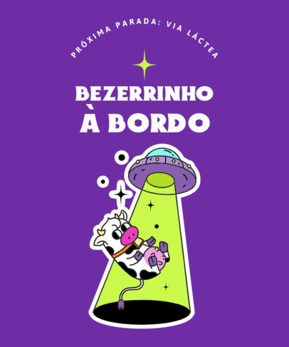Aliens T-Shirt Design Maker Featuring a Quote in Portuguese 3904b