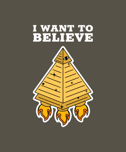 T-Shirt Design Creator Featuring a Reference to the Illuminati  3904a