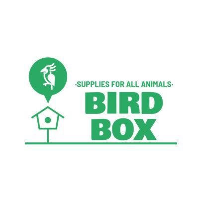 Logo Template for Pet Stores With a Bird Clipart 4237e-el1