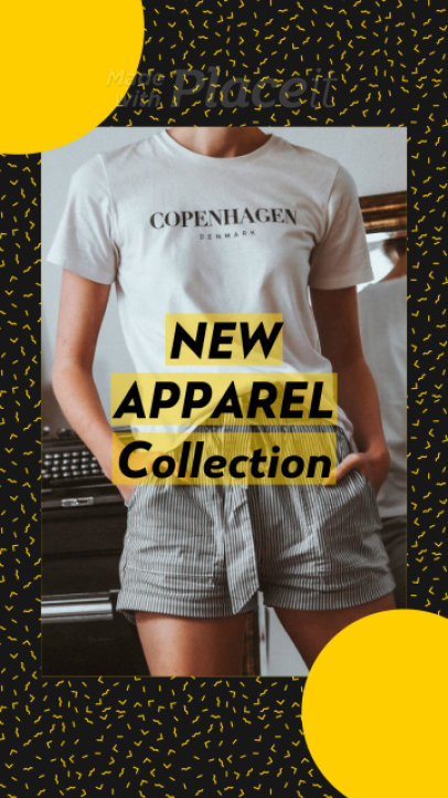 Instagram Story Video Maker for a Clothing Brand's New Collection with Animated Transitions 1333a 3721