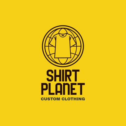 Logo Generator for POD Stores Featuring a T-Shirt Icon 4522i
