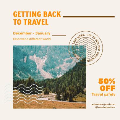 Instagram Post Design Maker for Travel Companies Featuring a Discount 4253e-el1