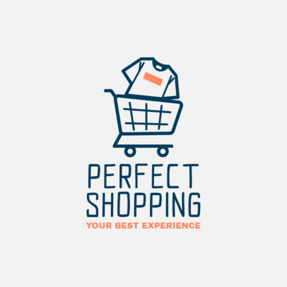 POD Store Logo Maker With a Cart Graphic 4522l
