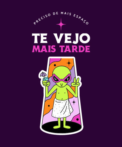 Funny T-Shirt Design Maker With an Alien Graphic 3904f