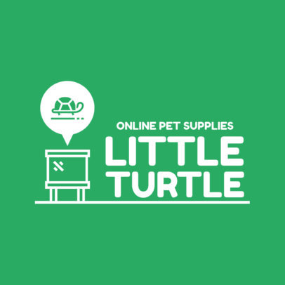 Logo Generator for a Pet Store With a Minimal Turtle Icon 4237A-el1