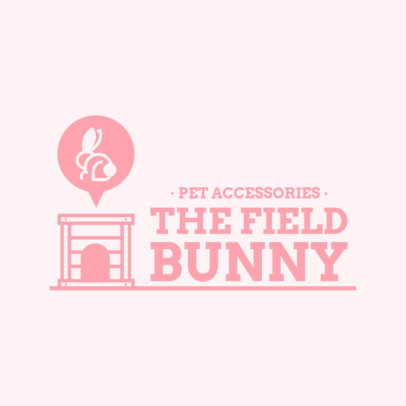 Simple Logo Maker for a Pet Store With a Bunny Clipart 4237B-el1
