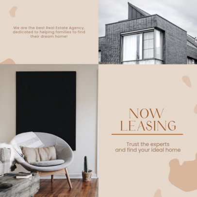 Real Estate-Themed Instagram Post Design Template With a Trendy Style 3907d