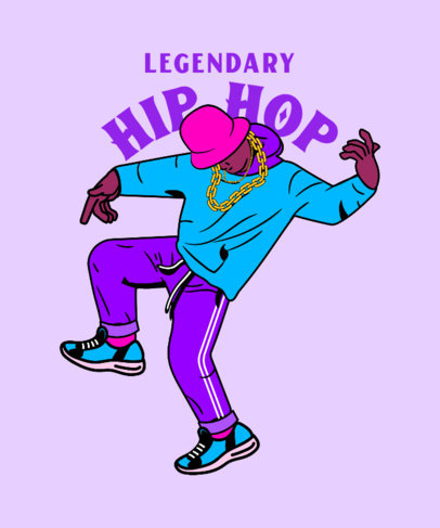 T-Shirt Design Maker Featuring a Hip-Hop Break Dancer Illustration 3897c