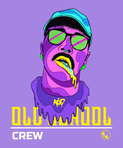 T-Shirt Design Creator With a Trippy Illustration of a Rapper 3896b