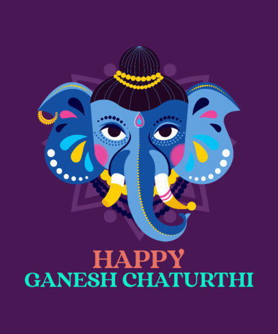 Illustrated T-Shirt Design Maker With a Ganesh Chaturthi Theme 3947
