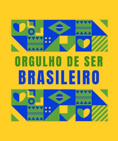 T-Shirt Design Maker With a Proud-to-Be-Brazilian Message 3953i