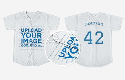 Baseball Uniform Builder - Jersey Both Sides Against Solid Backdrop a16740