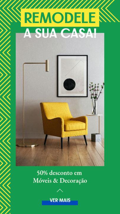 Semana do Brasil-Themed Instagram Story Design Template for a Furniture Store 3936e