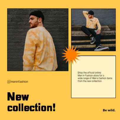 Instagram Post Template to Announce a Fashion Collection with a Minimalistic Layout 4279a-el1