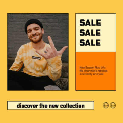 Instagram Post Template to Announce a Fashion Sale with a Minimalistic Layout 4278a-el1