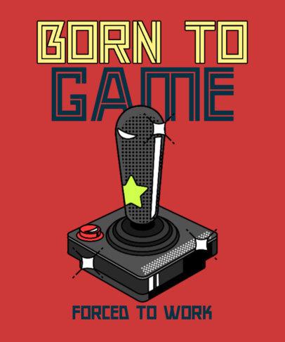 T-Shirt Design Template Featuring an 8-bit-Style Gaming Joystick 3938e