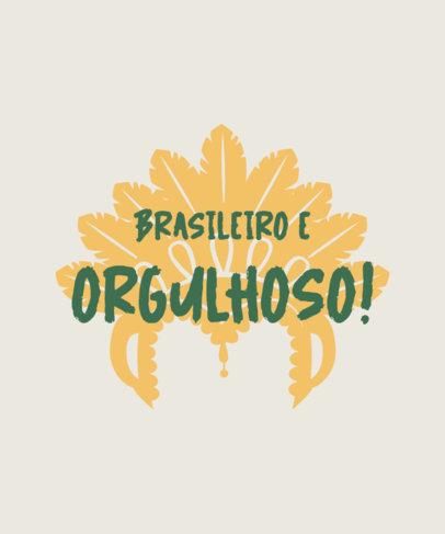 Brazil's Pride-Themed T-Shirt Design Creator with a Carnival's Headwear Graphic 3954e