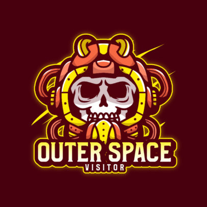 Gaming Logo Maker Featuring a Skull in an Astronaut Suit 4562B