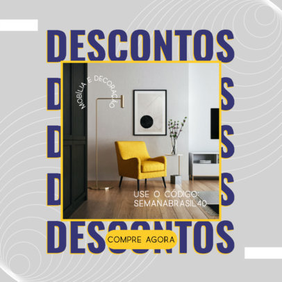 Ad Banner Maker for a Furniture Store With a Semana do Brasil Theme 3936e