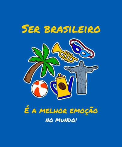 T-Shirt Design Generator for a Patriotic Brazilian  3951b
