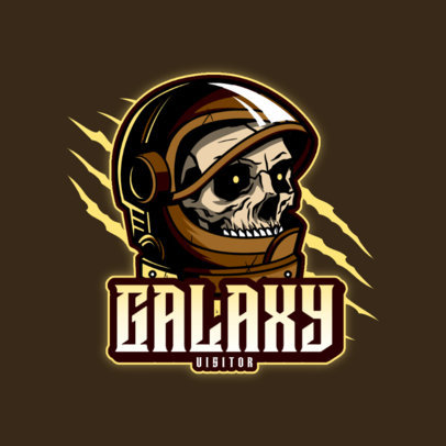 Gaming Logo Generator Featuring an Astronaut Skeleton 4563D