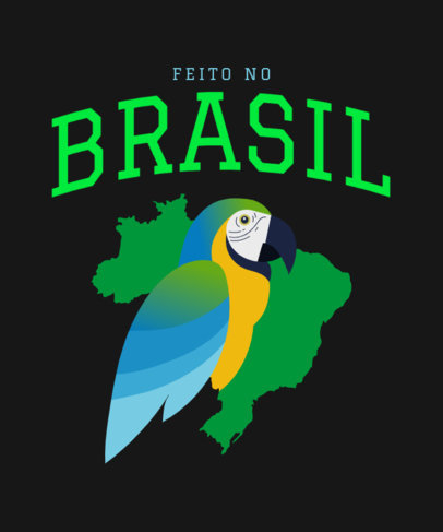 T-Shirt Design Creator for Proud Brazilians Featuring a Macaw Graphic 3952c