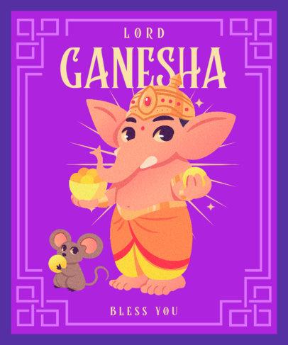 Illustrated T-Shirt Design Maker to Celebrate Ganesh Chaturthi 3948a
