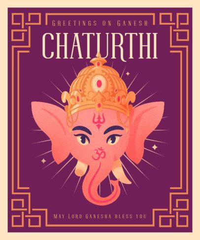 Illustrated T-Shirt Design Generator to Commemorate Ganesh Chaturthi 3948d