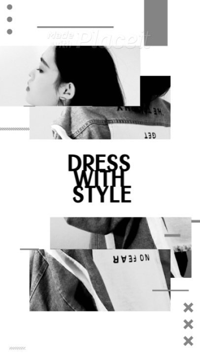 Monochromatic Instagram Story Video Creator With a Fashion Theme 1662a 3838
