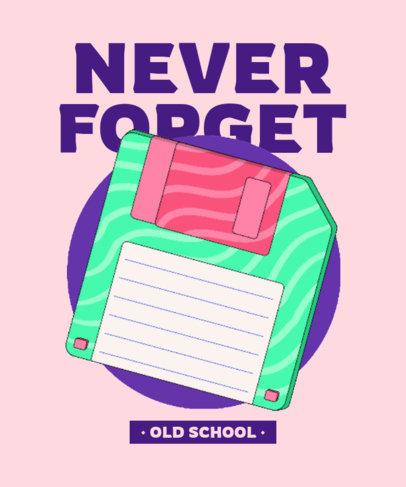 T-Shirt Design Maker Featuring a Retro Floppy Diskette 3937g
