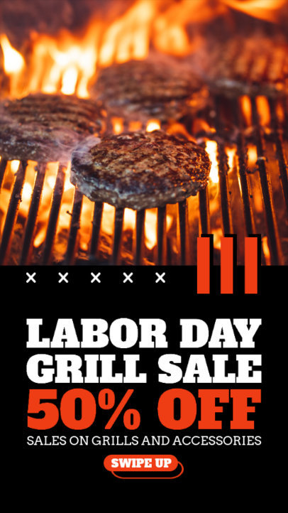 Instagram Story Maker with a Labor Day Discount on BBQ Supplies 4322f-el1