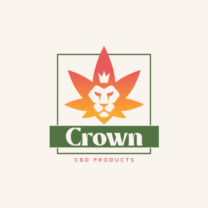 CBD-Themed Logo Template with a Regal-Looking Graphic 4314a-el1