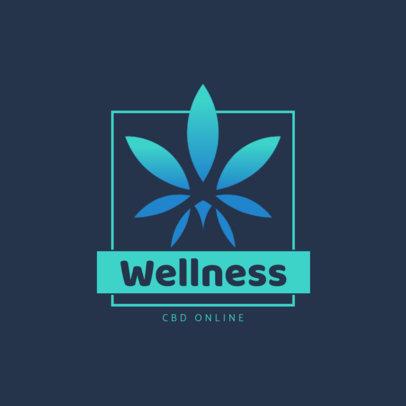 Logo Maker for a Wellness Company with a Cannabis Theme 4314b-el1