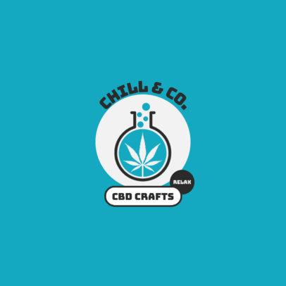 Online Logo Maker for Calming CBD Products 4312e-el1