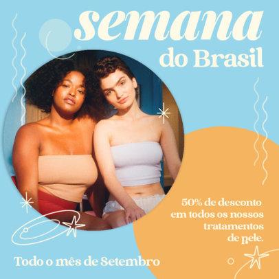 Instagram Post Design Template to Announce a Semana Do Brasil Special Offer 3936f