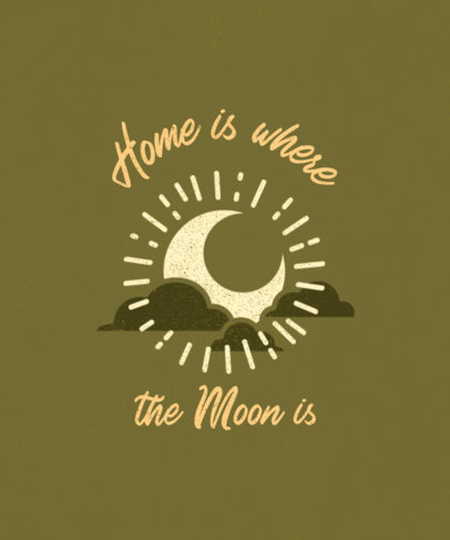 Outdoorsy T-Shirt Design Maker with a Graphic of the Moon 3963e