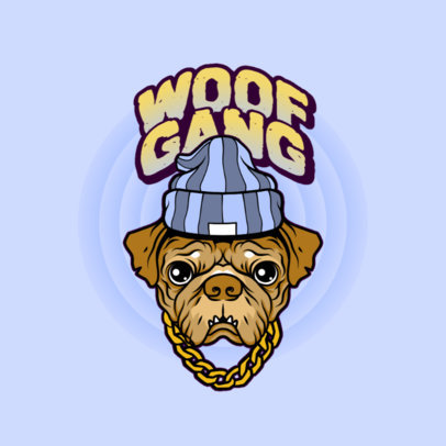 Streetwear Logo Maker Featuring a Dog With Swag 4578a