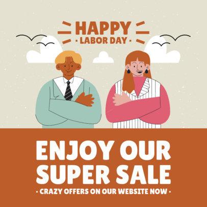 Instagram Post Creator to Celebrate Labor Day with a Super Sale 4315b-el1