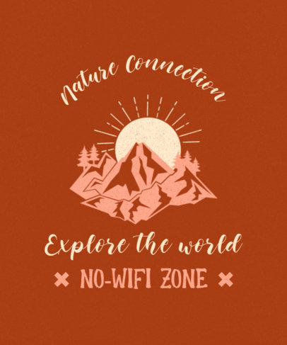 Fun T-Shirt Design Template Inviting to Enjoy the Outdoors 3963d