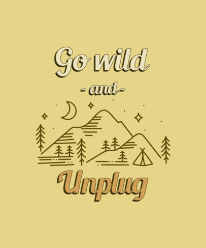 T-Shirt Design Generator With Cool Fonts and an Unplug and Recharge Message 3964b