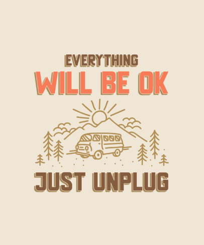 T-Shirt Design Maker With a Road-Trip Theme and a Quote About Unplugging 3964f